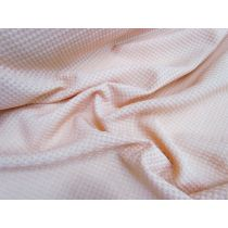 Textured Sheer Check Poly- Salmon