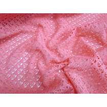 Crochet Look Spandex- Coral