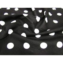 Spot Poplin- White on Black