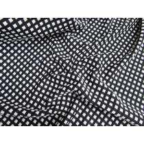 Bubble Square Jersey- Black/White