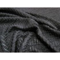 Frill Lace Knit- Black