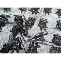 Crinkle Rose Lace- Black