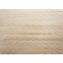 Sweet Scalloped Lace Trim- Creamy Peach
