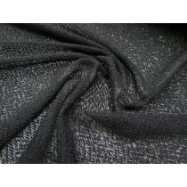 Sheer Woolly Look Soft Knit- Shiny Black