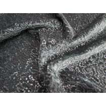 Steal The Night- Sequin on Panne Velvet- Charcoal