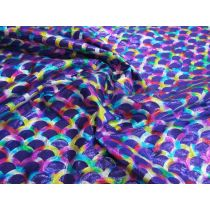 Rainbow Mermaid Foile Spandex- Purple