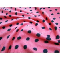 Pink Polka Micro Polar Fleece