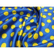 Spot Satin- Yellow on Royal