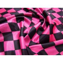 Harlequin Satin- Pink/Black