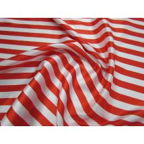 Stripe Satin- Red/White