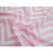 Chevron Cotton Poplin- Pink