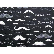 Mr Moustache Cotton- Black