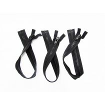 Zipper Bundle- Super Chunky Open End- 53cm Black- 3 for $5