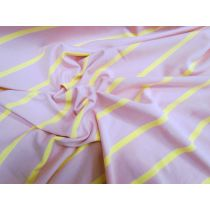 Strawberry Banana Stripe Cotton Spandex