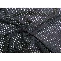 2way Stretch Large Eyelet Spandex- Black