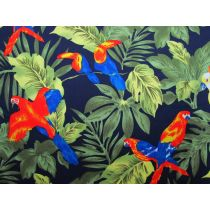 Paradise Palms Cotton- Navy