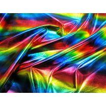 Rainbow Oil Spill Foile Spandex