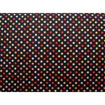 Colour Basic Mini Spot Cotton- Multi on Black