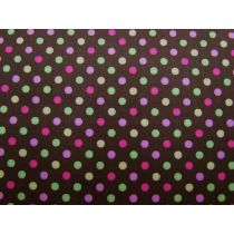 Colour Basic Spot Cotton- Multi on Brown