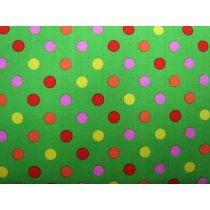Colour Basic Big Spot Cotton- Multi on Green