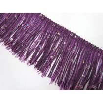 Sequin Fringe Trim- Purple