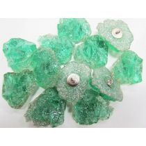 Quartz Crystal Couture Buttons- Green CB244