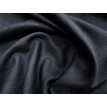 Twill Stripe Wool Blend Suiting- Tuxedo Navy