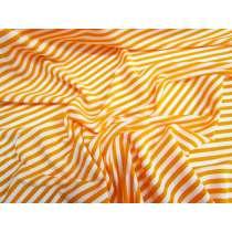Lustrous Stripe Stretch Jersey- Orange