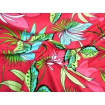 Palm Plant Spandex- Red
