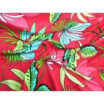 Palm Plant Spandex- Red