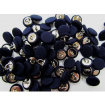 2 for $1.00 Fabric Covered Fashion Buttons- Dark Navy FB086