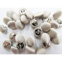 2 for $1.00 Fabric Covered Fashion Buttons- Ivory Satin FB090