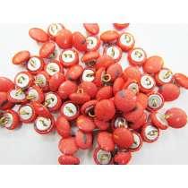 2 for $1.00 Fabric Covered Fashion Buttons- Orange Confetti FB093