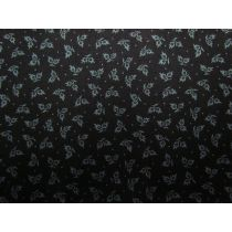 Winter Thistle Cotton- Black/Grey