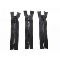 Zipper Bundle- Chunky Closed End- 11cm Black- 3 for $5