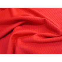 Bubblewrap Jacquard Knit- Red