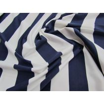 Yacht Stripe Spandex- Nautical