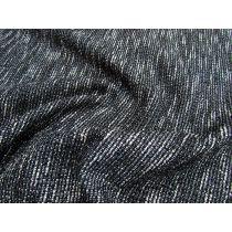 Bonded Textured Knit- Static Black