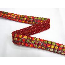 Triple Satin Weave Trim- Red