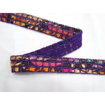 Triple Satin Weave Trim- Purple