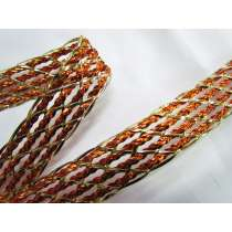 Copper & Gold Foil Braided Trim