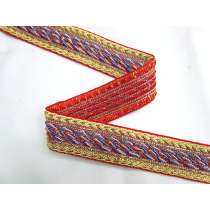 Library Room Braided Trim- Red