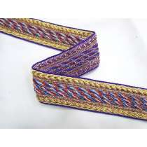 Library Room Braided Trim- Purple