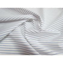 Stripe Cotton Shirting- White/Blue/Peach