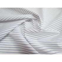 Stripe Cotton Shirting- White/Blue/Peach