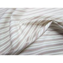 Stripe Cotton Shirting- Cream/Brown