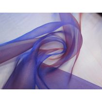 Shot Crystal Organza- Red Royal Purple