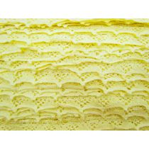30mm Cotton Lace Ribbon Trim- Lemon Butter