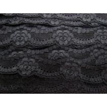 Lotus Love Stretch Lace Trim- Black
