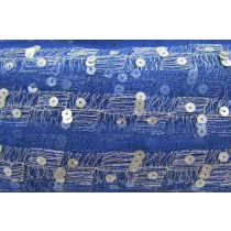 Fine Lines Soft Mesh Trim- Royal Blue
